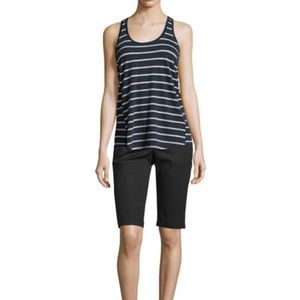 Vince Sleeveless Grey Striped Relax Fit Tank Top M